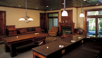 Pool Table & Bar Basement